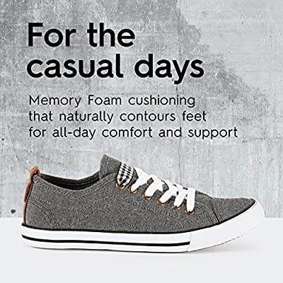 PRATO Womens Flat Fashion Shoes - Casual & Comfortable - Low Cut Sneakers Made from Textile Fabric - 2 different removable laces - Perfect for Spring Summer Fall