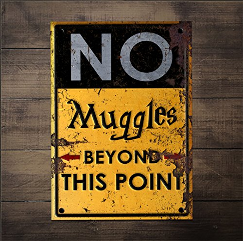 No Muggles Beyond This Point - NEW Humor Magic Wizard Poster Sign Print 0626