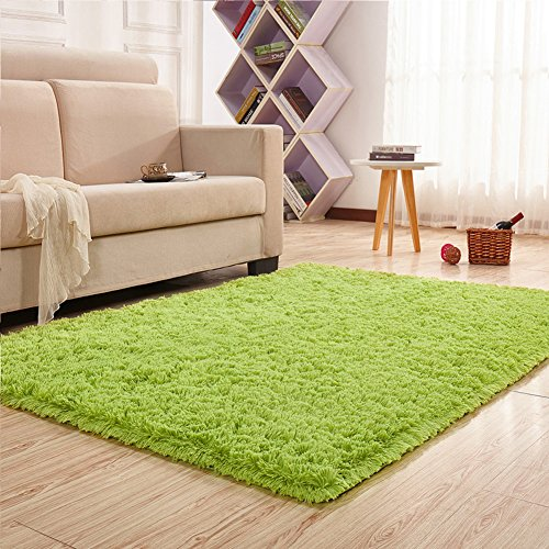 PAGISOFE Soft Boys Girls Room Rug Baby Nursery Decoration Carpet 4' x 5.3',Lime (Bright Lime Modern Kids Rug)