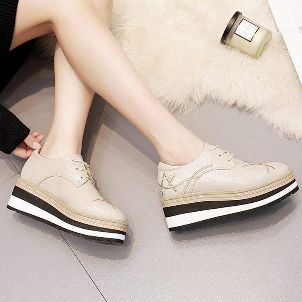 Chaussures /à Lacets Plates pour Dames Baskets Confort Chaussures /à Enfiler de Bureau et de f/ête Hy Chaussures Tout-Aller pour Femmes Chaussures /à Talons compens/és en Microfibre Automne//Hiver