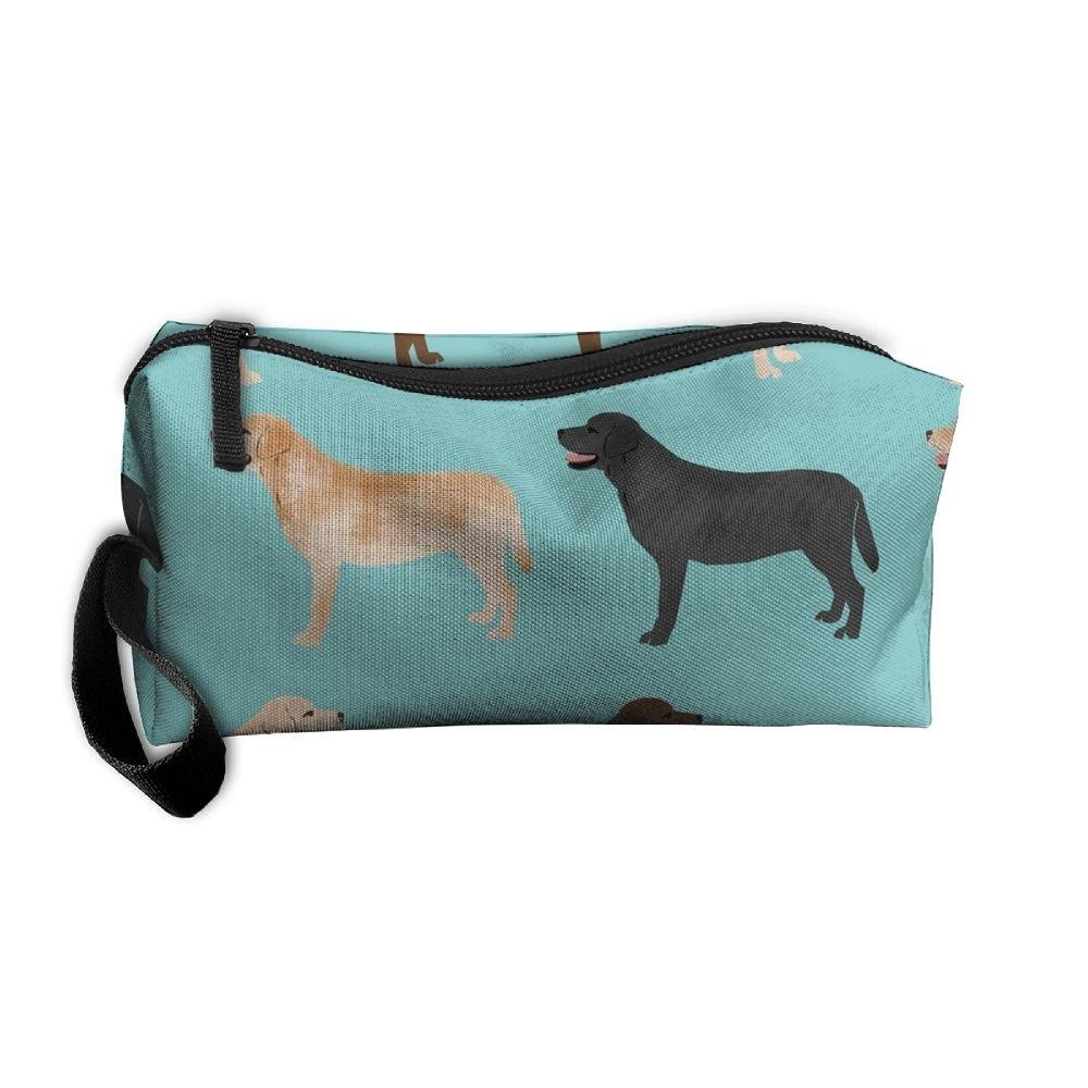cananhjs新しいかわいいLabradorsイエローチョコレートブラックラボペットdogshomeポータブルHanging Toiletry Travelバッグ&コスメティックバッグ鉛筆ケース旅行 B07D13SGZ7