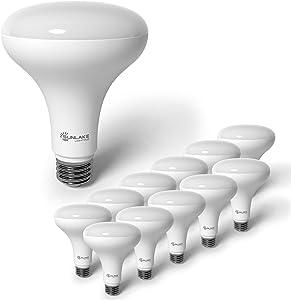 SunLake Lighting 12 Pack BR30 LED Bulb, 9.5W=65W, Dimmable, 2700K Soft White, E26 Base, Energy Efficient LED Flood Light Bulbs for Home, Ceiling Light, Office Space