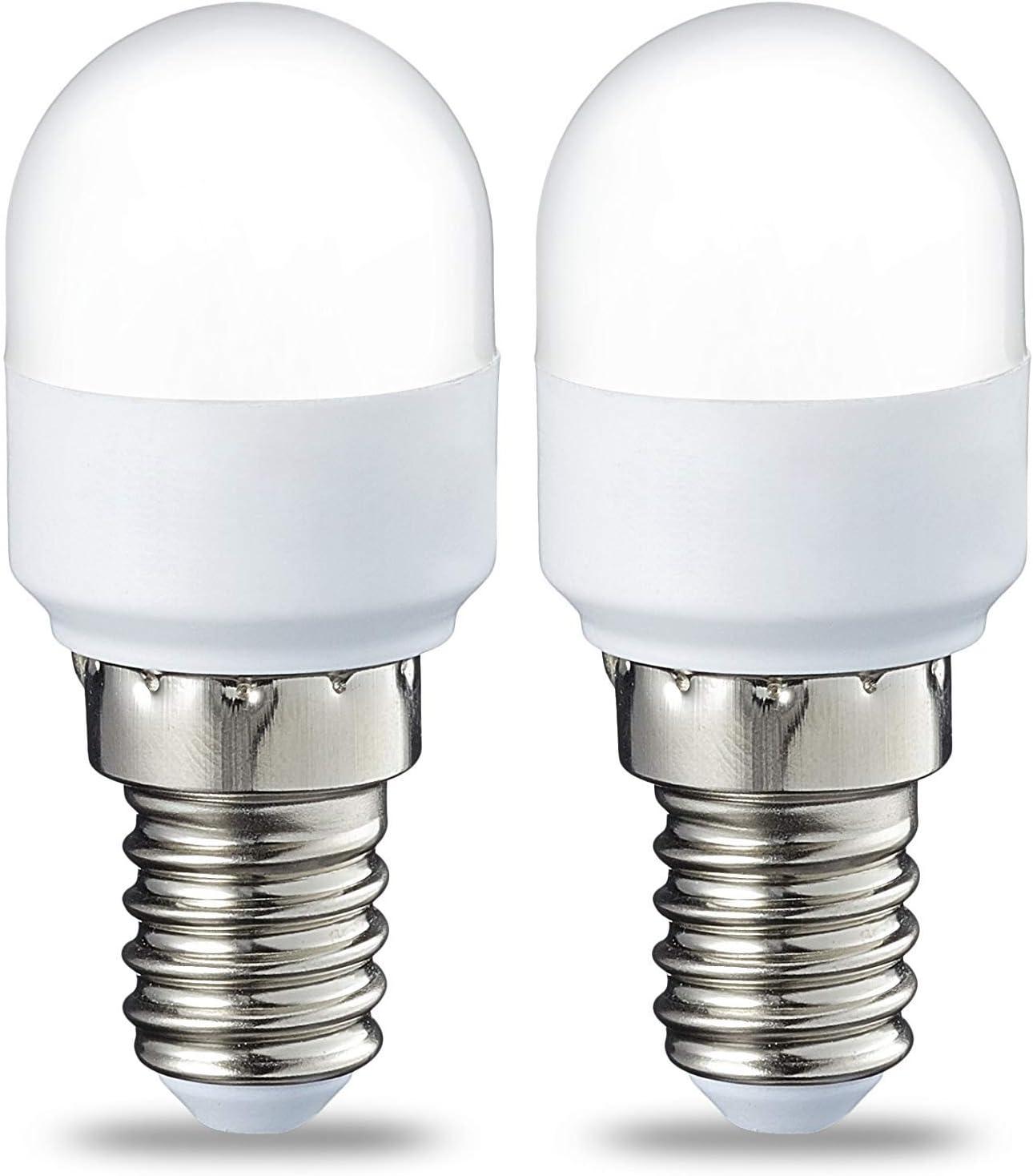 AmazonBasics Bombilla LED T25 E14, 1.8W (equivalente a 15W), Blanco Cálido, 2 unidades