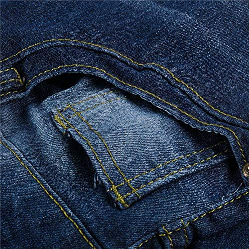 Sottili xxxl Donna Jeans Pantaloni m Cotone l Con S Stretch Moda xxl xl Bassa Di Media Vita Femminili Denim A Buco Jiameng Blu CpSOxBS