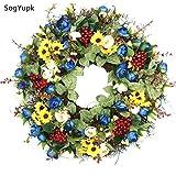 SogYupk Decorative Seasonal Front Door Wreath Handcrafted Wreath 15 inches