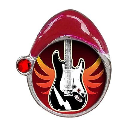 Guitarra eléctrica de color rojo Siam cristal de enero de piedra rojo sombrero de Papá Noel