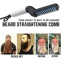 Peigne Electrique pour Homme, Cheveux et Barbe - Peigne Lissage pour Homme - Température Réglable - Design Ergonomique