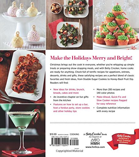 betty crocker christmas cookbook easy appetizers festive cocktails