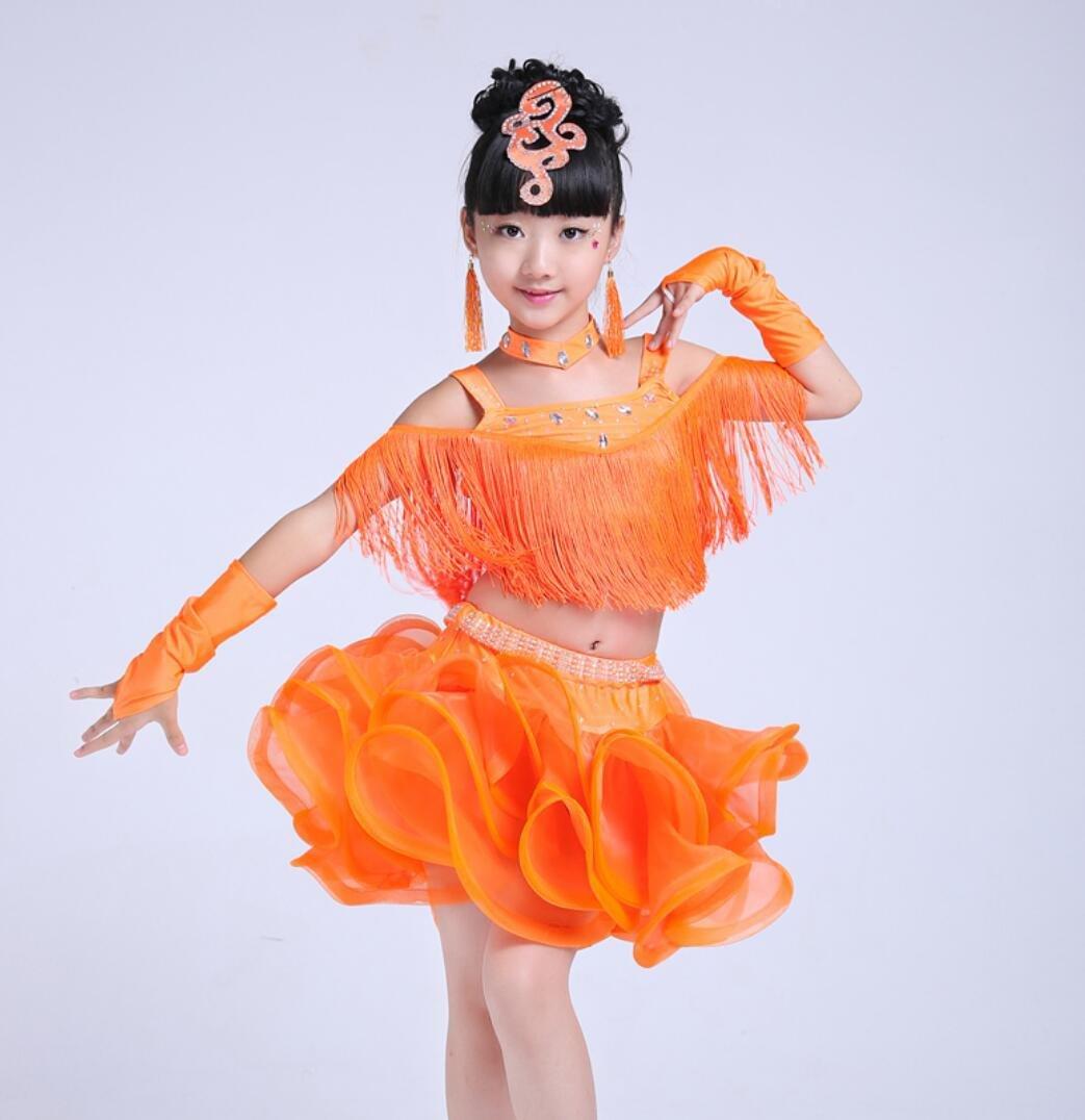 Red SMACO-abbigliamento per la danza gonne Latini e Costumi Concorso di Costumi di Ballo Costume di Ballo 110cm