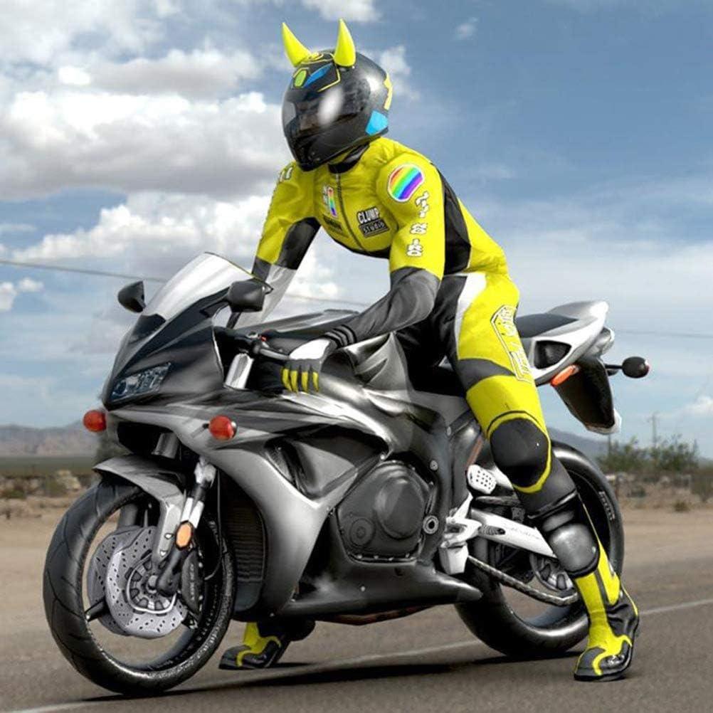 pour Casque de Motocross Hors Route ZNEU Corne du Diable Lot de 4 Accessoires de d/écoration de Casque de Moto Souple personnelle Corne Accessoires De d/émon avec Ventouse en Caoutchouc Mou