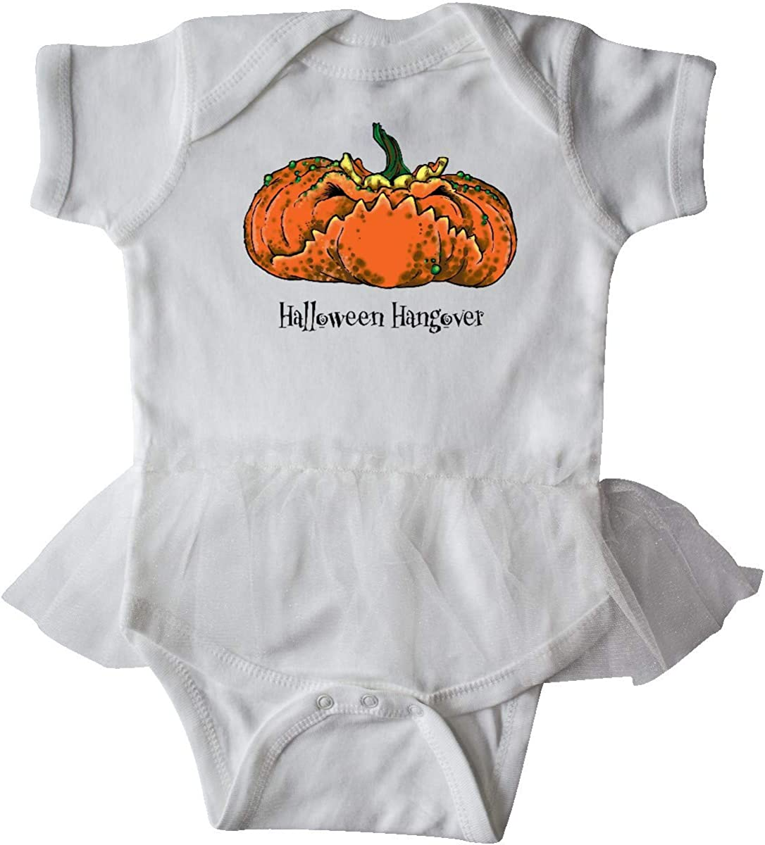 inktastic Halloween Hangover Smashed Pumpkin Infant Tutu Bodysuit