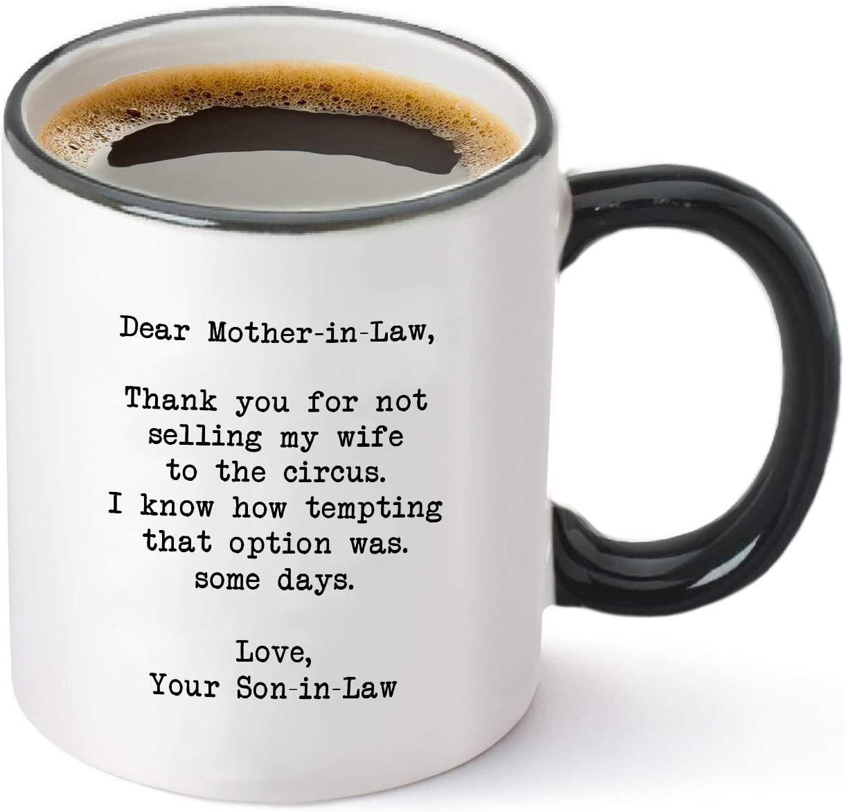 Amazon Com Dear Mother In Law Thank You For Not Selling My Wife To The Circus Funny Mother In Law Gifts From Son In Law Best Mother S Day Birthday Wedding Or Christmas Gift
