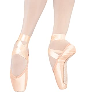 ac2931d9a WINWIN Girls Women s Pink Satin Ballet Pointe Shoes Toe Shoes with ...