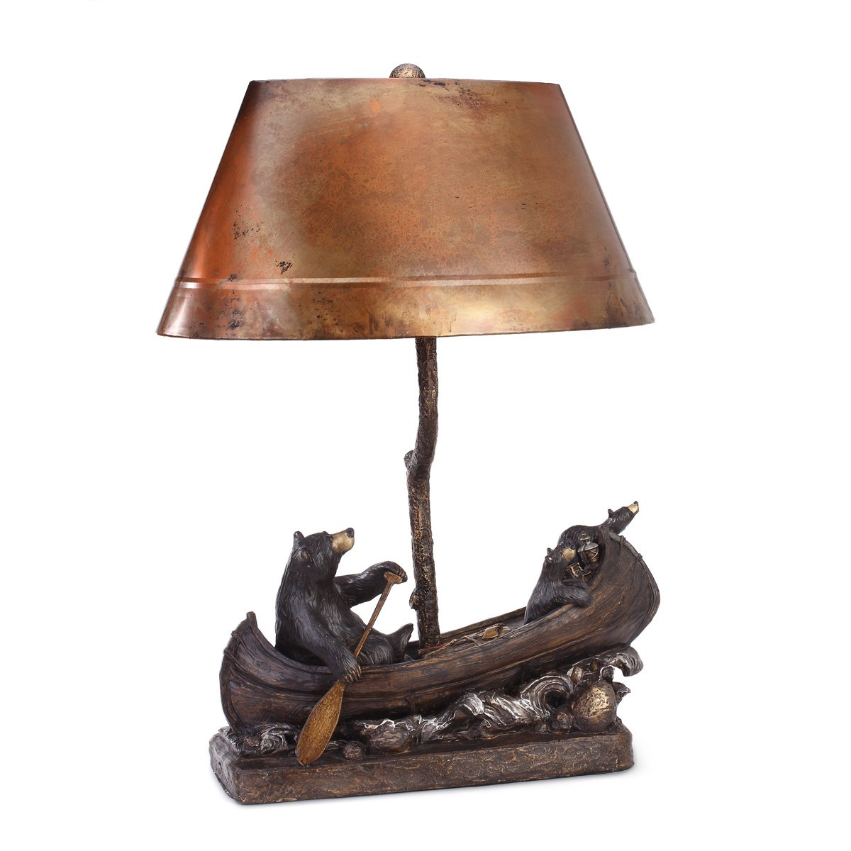 Amazon big sky carvers canoe trip copper lamp home kitchen geotapseo Choice Image