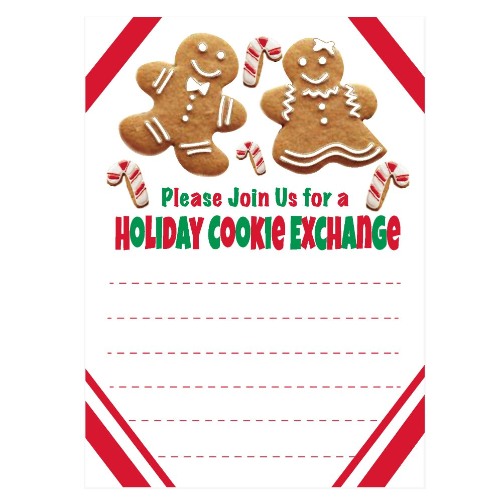 Holiday Cookie Exchange Invitations Christmas Cookie Swap Party Invites Gingerbread And