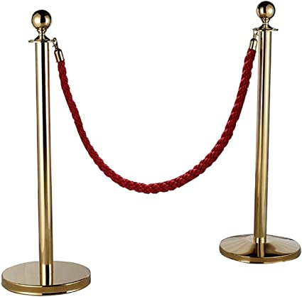 High Quality 2m// 3m Twisted Queue Barrier Rope for Posts Stands Exhibition