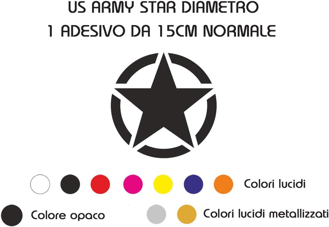 1 pezzo, Arancione Lucido Fashion Graphic Adesivo Sticker Us Army Stella Militare Stile Normale 20CM Fuoristrada 4x4 Prespaziato