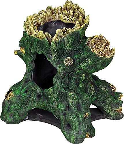 Exotic Environments Hollow Tree Stump Aquarium Ornament