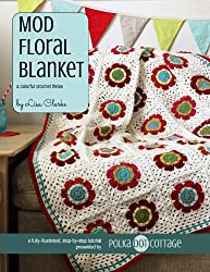 Mod Floral Blanket: A Colorful Crochet Throw