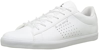 821da1a2d35b Le Coq Sportif Women s Agate Metallic Optical White Trainers  Amazon ...