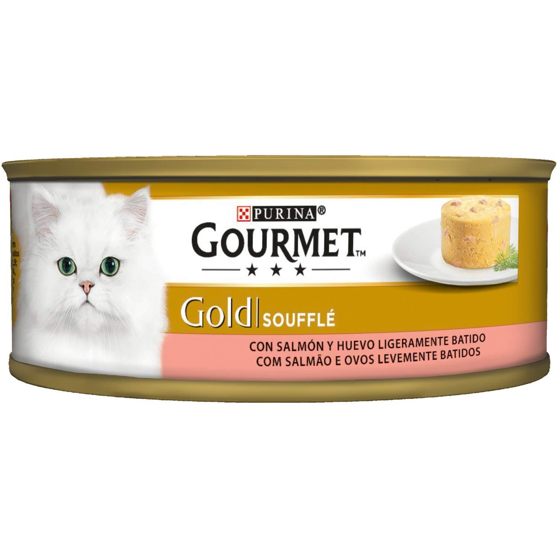 Purina Gourmet Gold Soufflé comida para gatos con Salmón 24 x 85 g