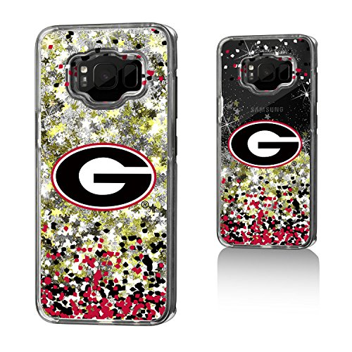 Georgia Bulldogs Gold Glitter Case for the Galaxy S8 (Gold Georgia Bulldogs Football)