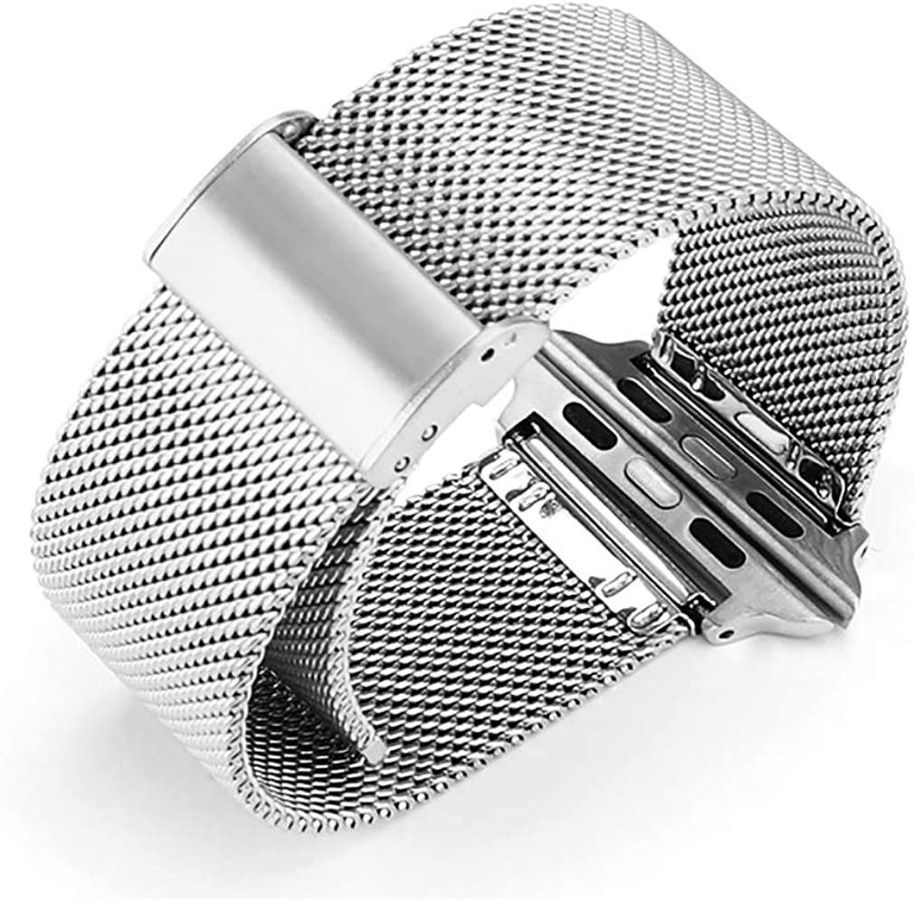 Compatible with Apple Watch Band 38MM 42MM 40MM 44MM,Stainless Steel Mesh Milanese Sport Breathable Wristband Replacement Parts for iWatch Series 4 3 2 1