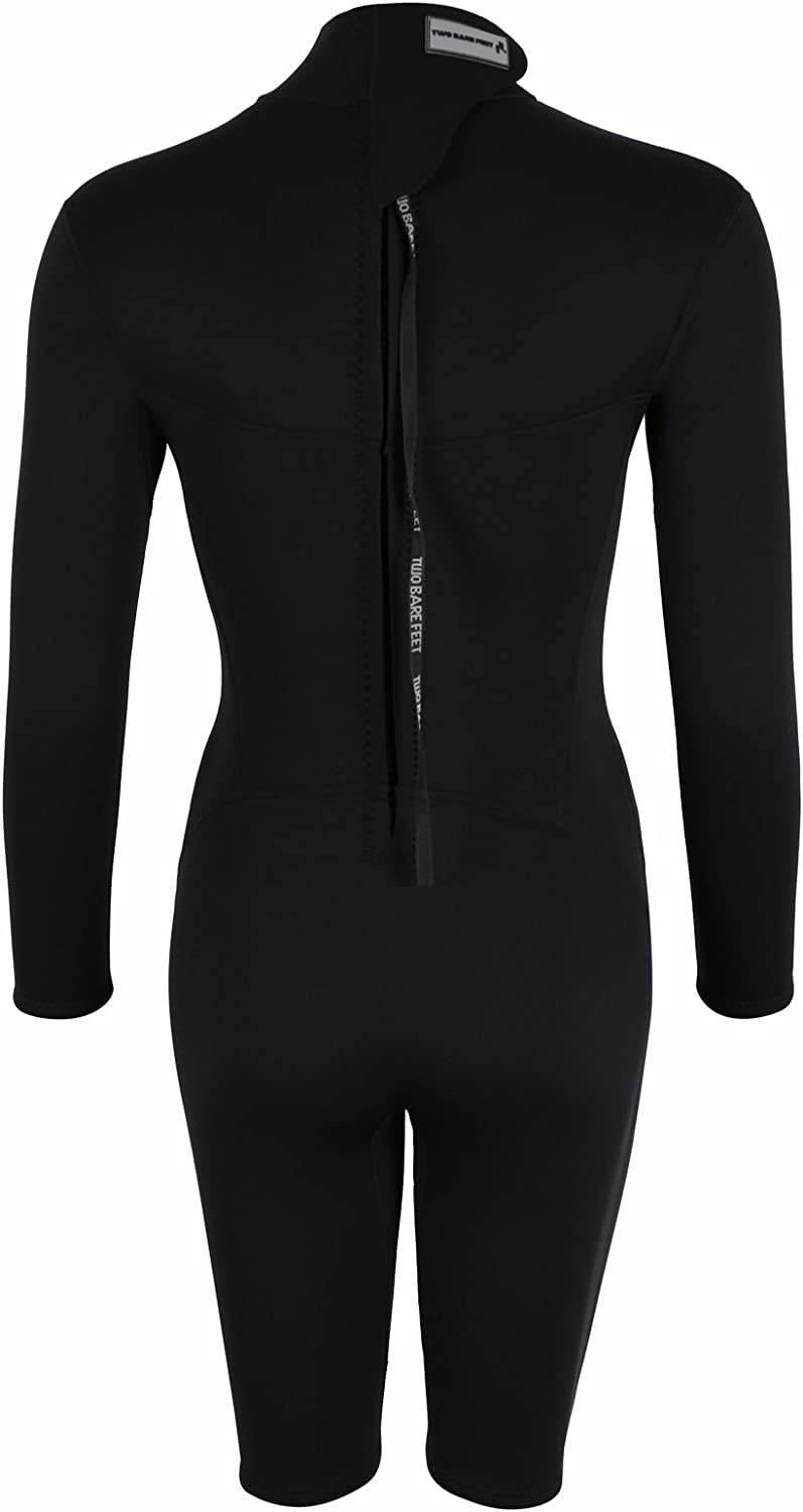 Two Bare Feet MD THUNDERCLAP Womens 2.5mm Long Sleeve Shorty Wetsuit by TBF