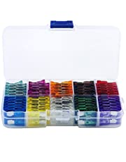 100x Standard Blade Auto Car Assorted Fuse Sets Assortment Kits 2A-35A W/Box