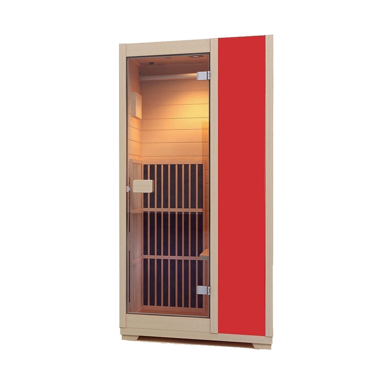 Sauna de Infrarrojos Zen Brighton – Cabina de Infrarrojos modular, 1 persona, Madera Hemlock Canadiense (Natural) Vitality4Life