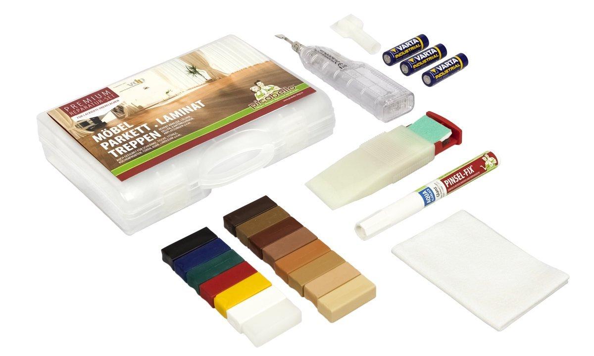 Picobello, Set premium per riparazione legno, parquet, laminati, mobili, superfici laccate, G61403