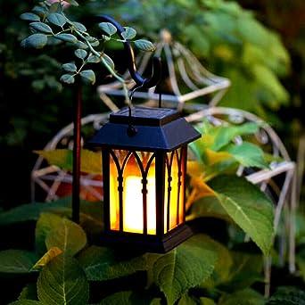 LEDMOMO Lumières de Lanterne Solaire LED Vintage Lanterne Extérieure ...