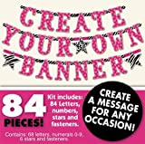 pink and zebra party streamers - Create Your Own Banner Kit Any Message Birthday Party 84 pieces Zebra Hot Pink