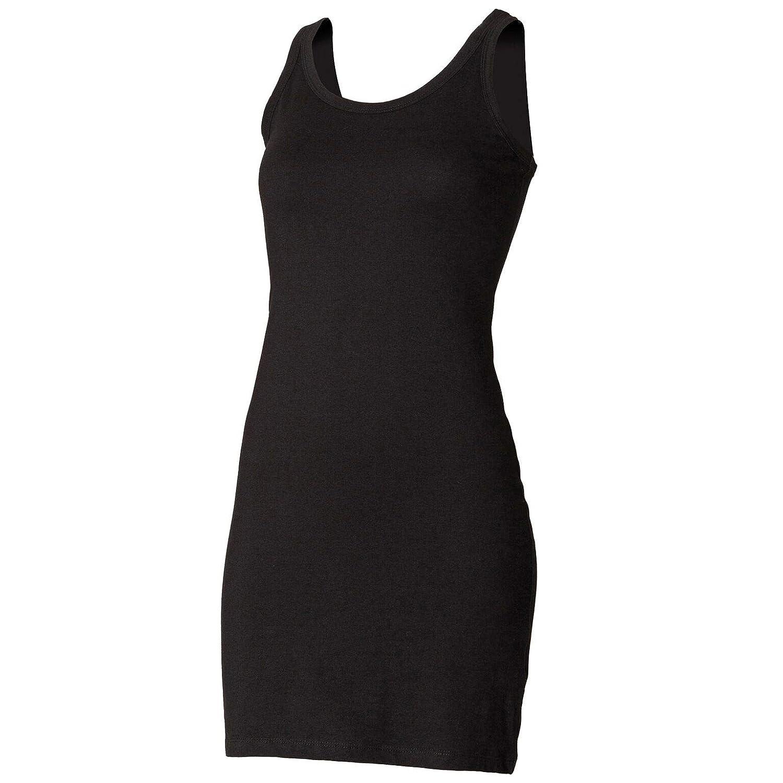 Skinni Fit Extra Long Modern Essential Tank Top Dress? Black Sizes 8-18 SK104