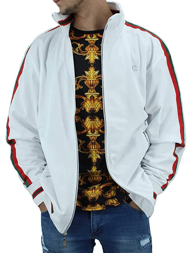 ROCAWEAR ESSENTIAL GUCCI COLOR RAYAS HOMBRE NIÑO CHAQUETA DE CHÁNDAL HIP HOP NAPPY MONEY TIME IS: Amazon.es: Ropa y accesorios