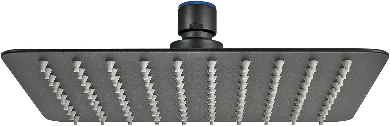 DQ-PP Regendusche Edelstahl 20 cm Quadratisch Chrom Kopfbrause Top Qualit/ät Anti Kalk Schwenkbar