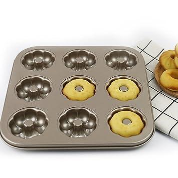 Flores con forma de antiadherente de acero al carbono Madeleine sartenes molde para tartas para galletas