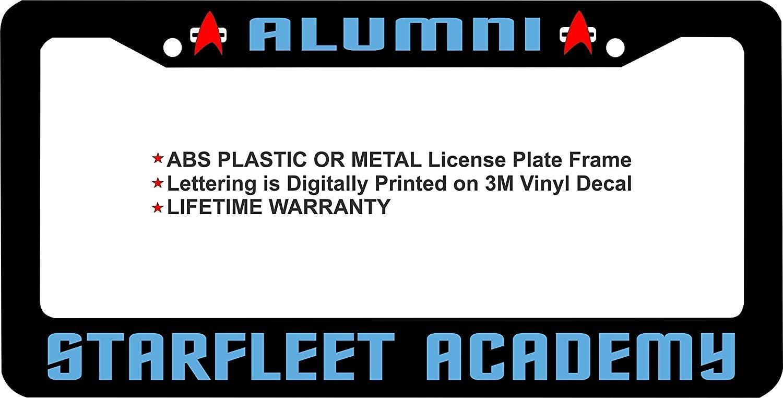 LOHIGHH Star Trek Alumni Starfleet Academy Custom Black License Plate Frame Metal 12 X 6