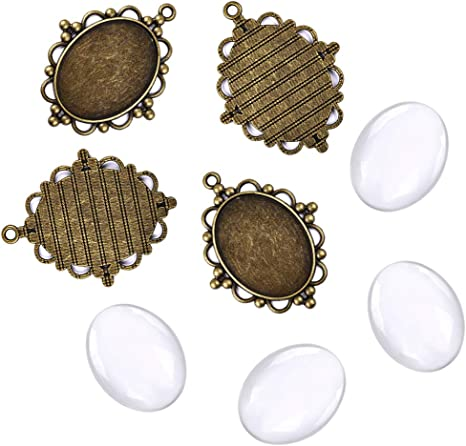 10 x Clear Round Glass Dome cabochons for 18 mm pendant tray setting blanks