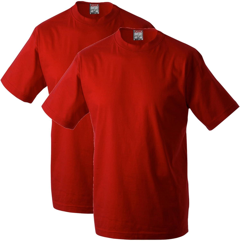 Adamo Fashion Pack de 2 Camisetas Rojas Oversize, 2xl-10xl:6XL: Amazon.es: Ropa y accesorios