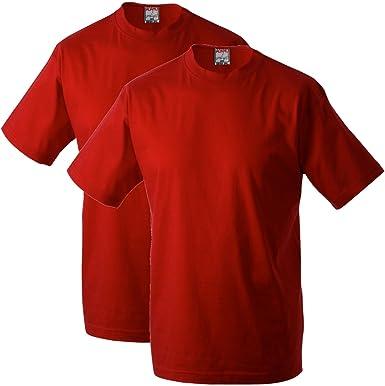 Adamo Fashion Pack de 2 Camisetas Rojas Oversize, 2xl-10xl:6XL ...