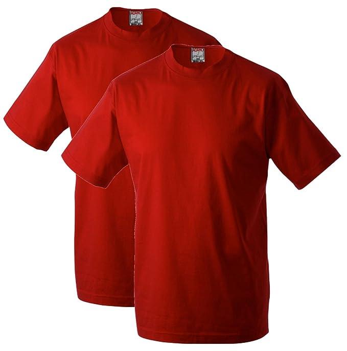 Adamo Fashion Pack de 2 Camisetas Rojas Oversize, 2xl-10xl:5XL: Amazon.es: Ropa y accesorios