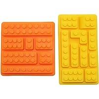 Silikon Mold Pan (Bundle)–makes LEGO Brick, Candy, çikolata, doğum günü parti favor, Jello, Soap and Crayons by Kitchen Toyz