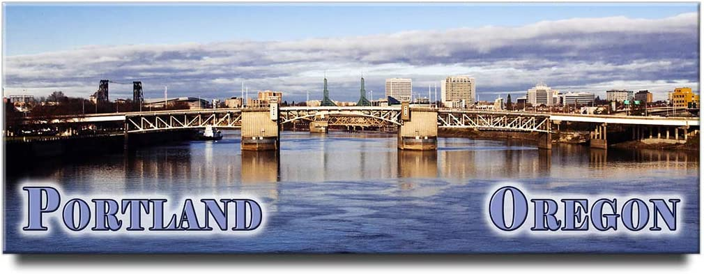 Portland panoramic fridge magnet Oregon travel souvenir