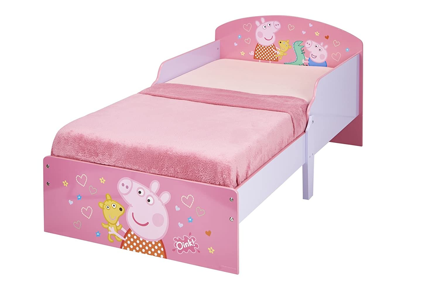 Peppa Pig Kids Toddler Bed by HelloHome Worlds Apart 454PED