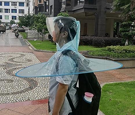 Amazon.com : ZRLsly Head Umbrella; Transparent Folding Cloak; Raincoatd M : Garden & Outdoor