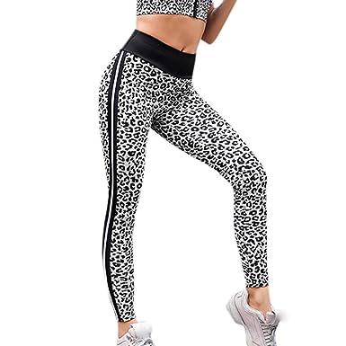 Femme Leggings Pantalon Taille Haute Elastique Modelage du Corps De Sport  Sexy Mode Slim Leopard Imprimé 4f24a1b026e