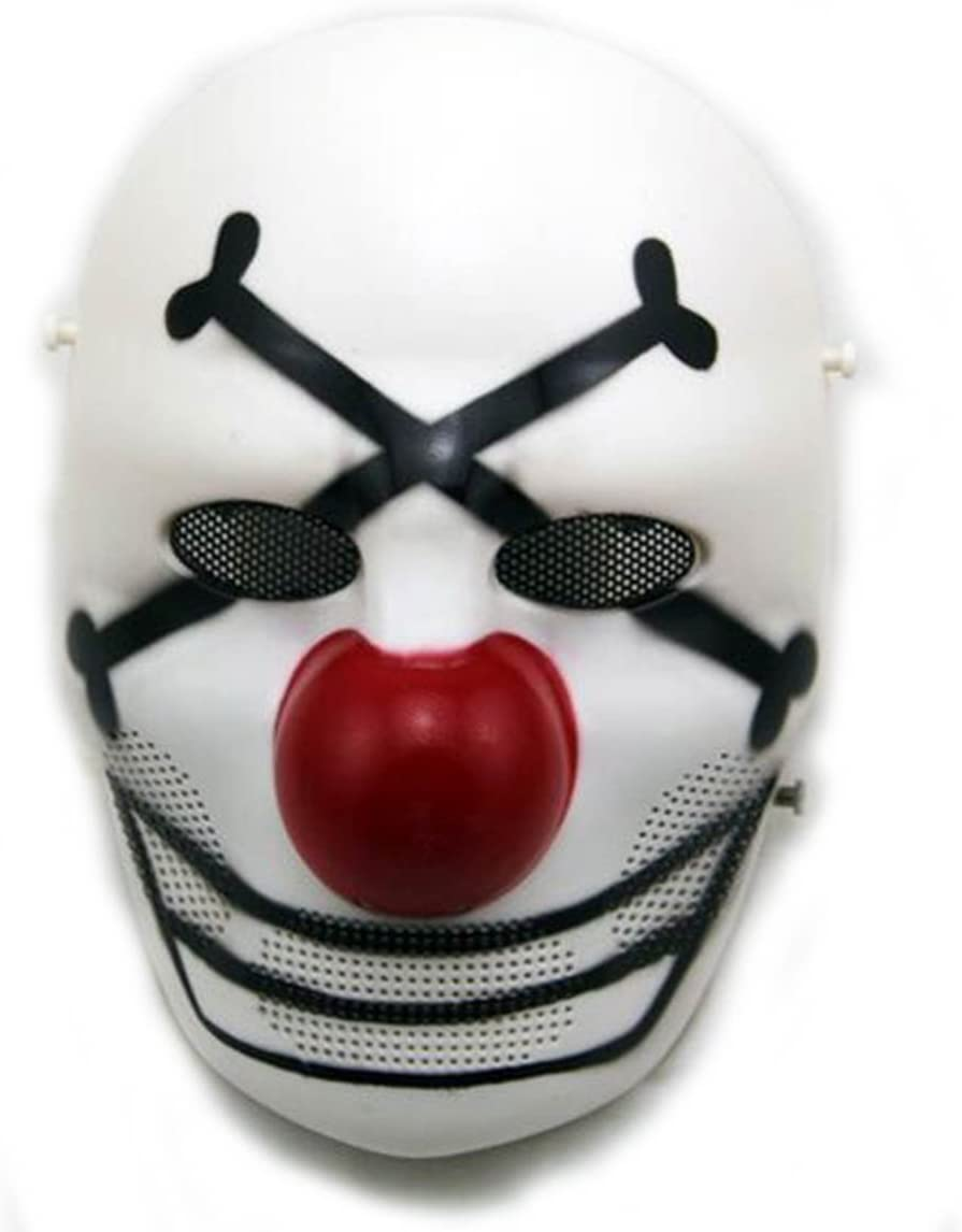 H Monde EU Airsoft Tactique de Protection Full Face Effrayant Clown Masque pour Cosplay Costume dhalloween