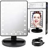 Straightforward Led Touch Screen Makeup Mirror Professional Vanity Mirror With 16 Led Lights Health Beauty Adjustable Countertop Rotating To Be Distributed All Over The World Bath Mirrors