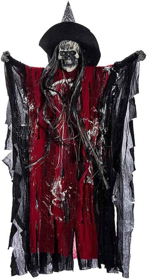 Bartz Ghost Halloween Decorations, Animated Hanging Grim Reaper